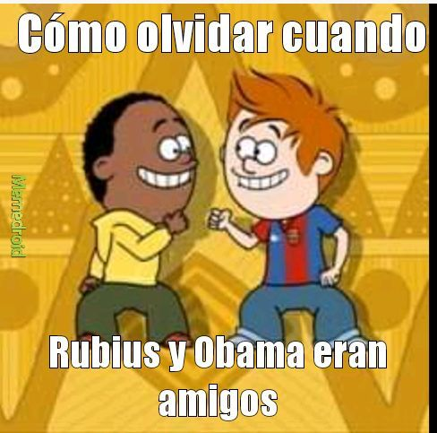 Rubius y Obama - meme