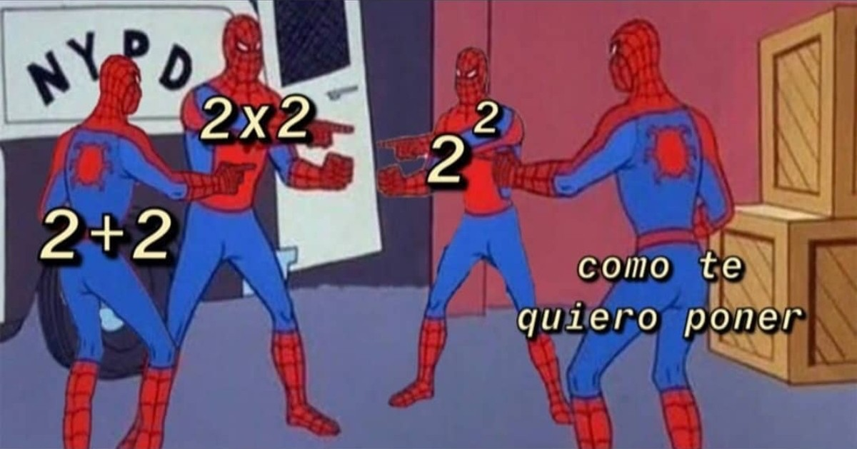 Falta la raíz cuadrada de 16 - meme