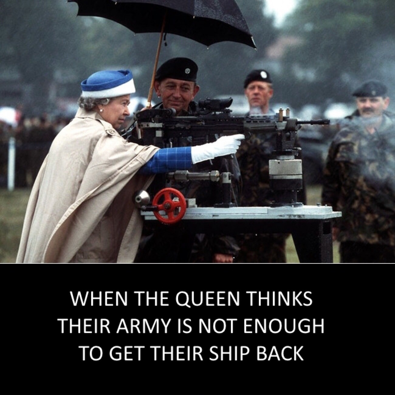 god save our royal queen - meme