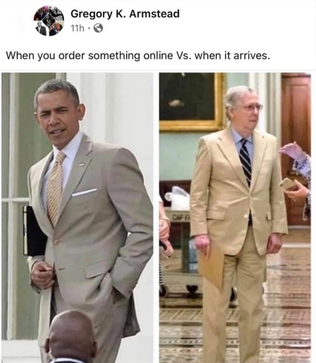 Take a Breath Memedroid it's Just a Joke... but Tan Really is an Awful Color for a Suit