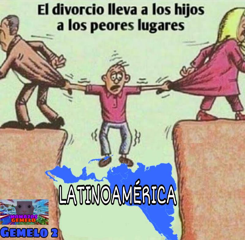 Piénselo, de seguro nuestros antepasados españoles vinieron a Latinoamérica para culiar con indígenas por culpa del divorcio de sus padres - meme