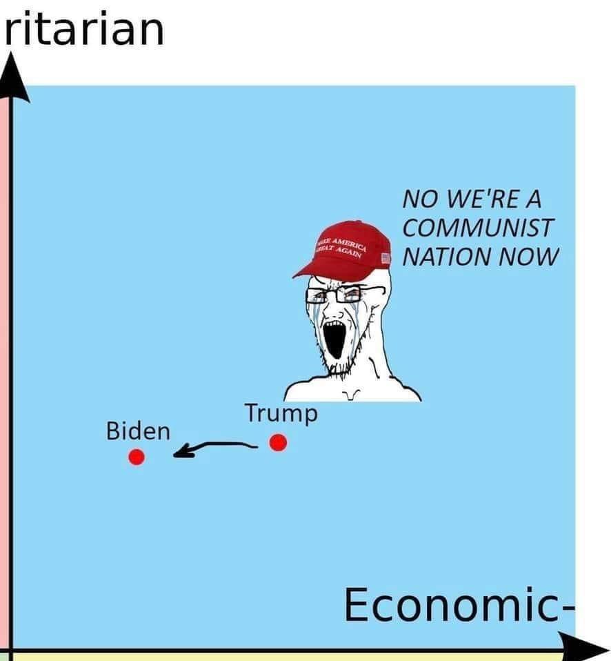 noooo, now we're communist - meme