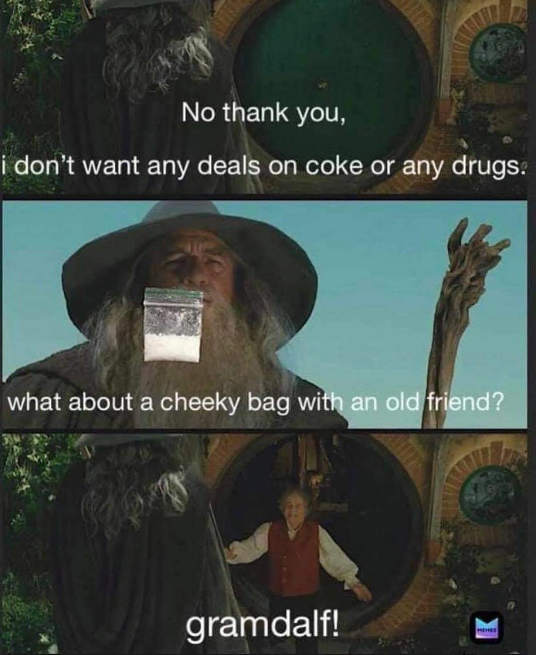Gandalf the white indeed - meme