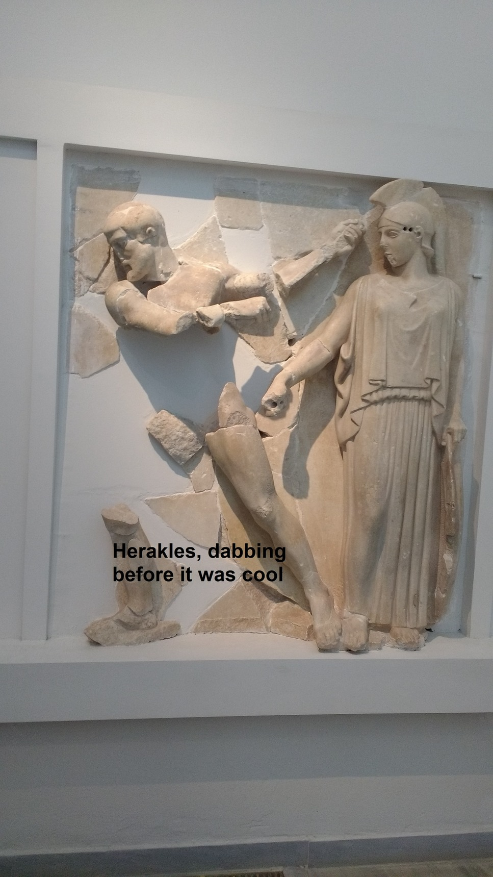 Metoop I found at the museum in Delphi - meme