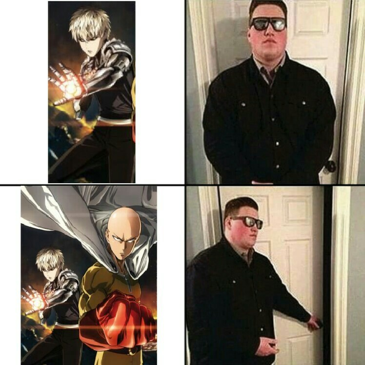 Goku > Saitama - meme
