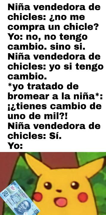Pikachu sorprendido - meme