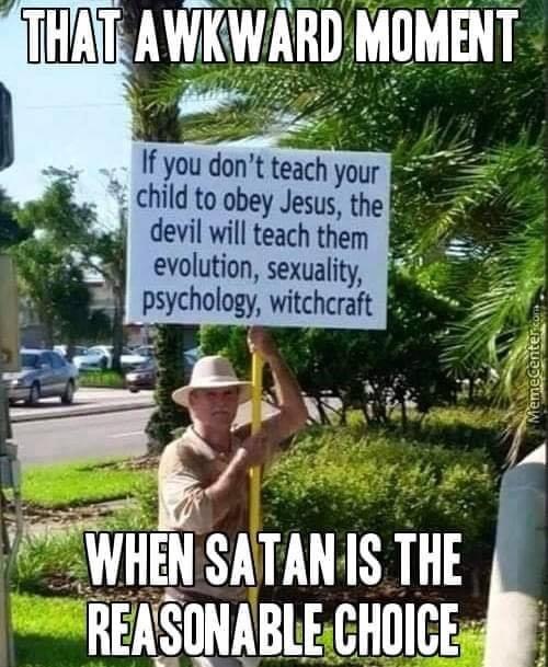 ummmm, hail Satan? - meme