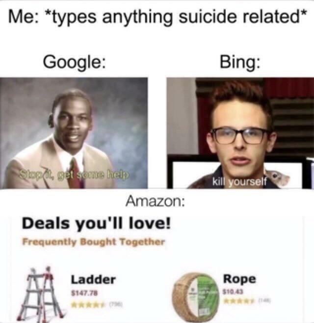 Let go bing - meme