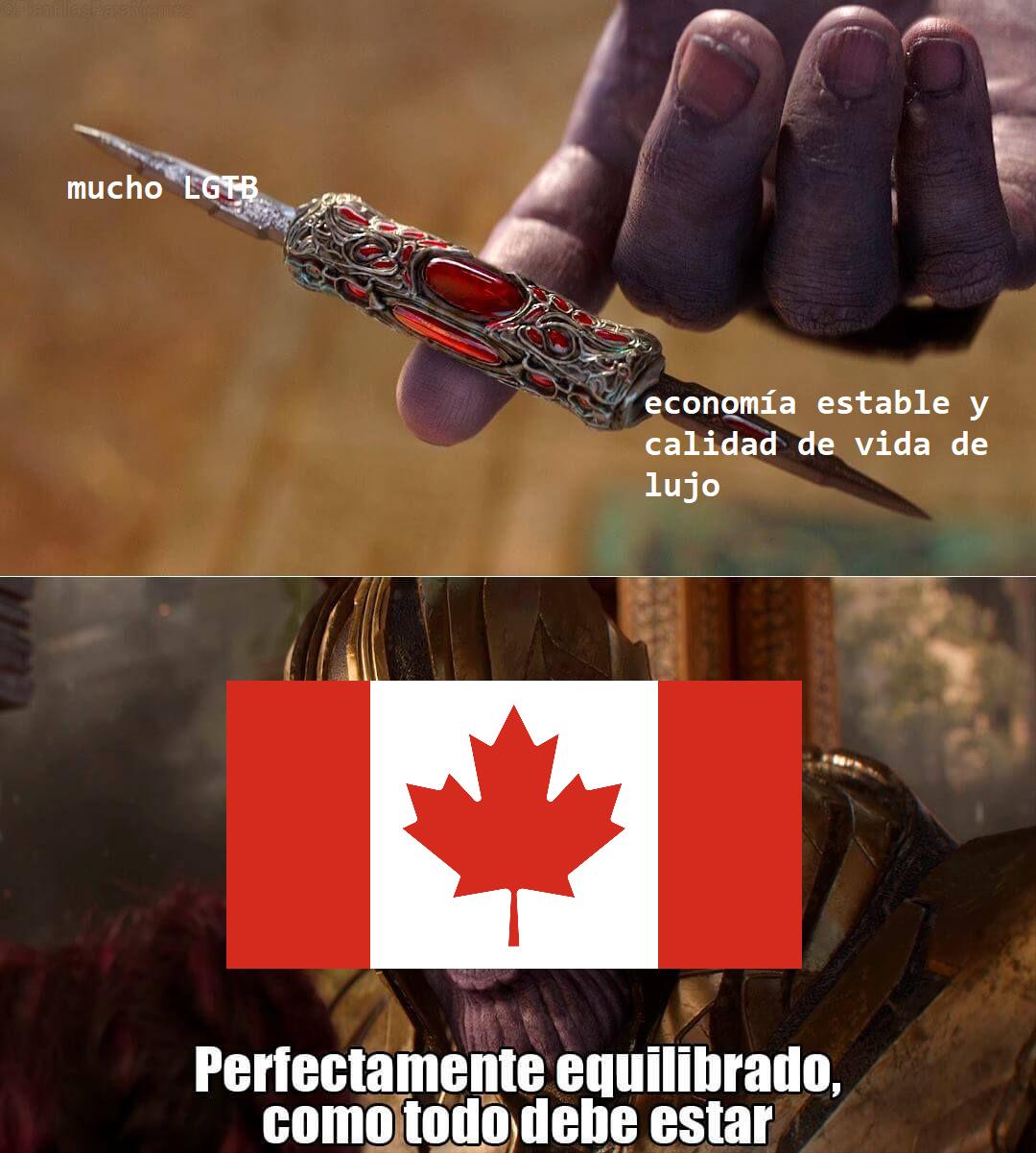 cosas normales de Canadá - meme