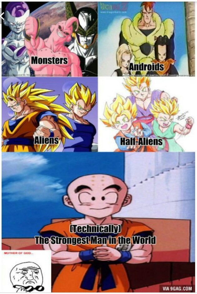 Krillin isn't trash yet - meme