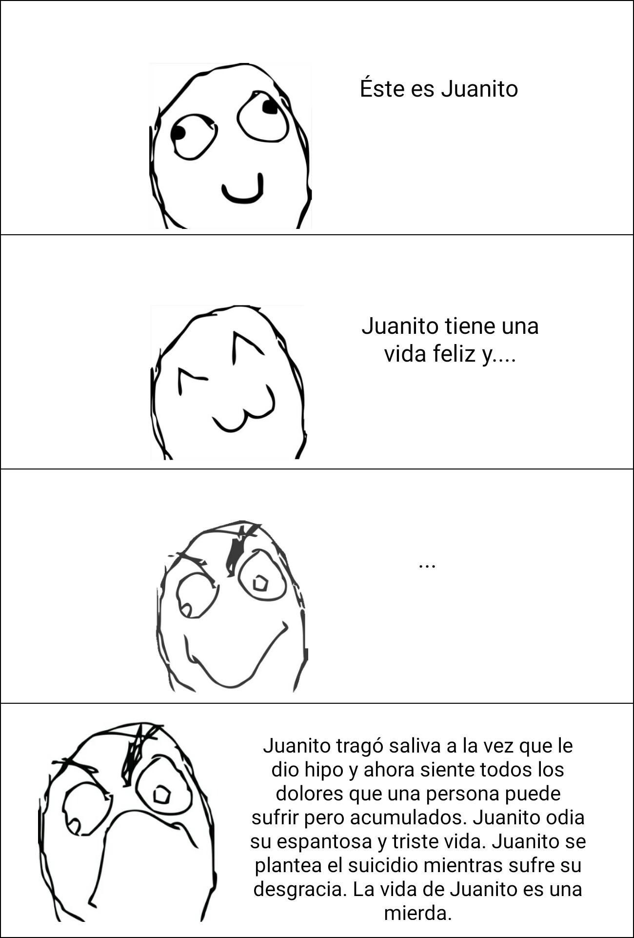 Juanito sufre - meme